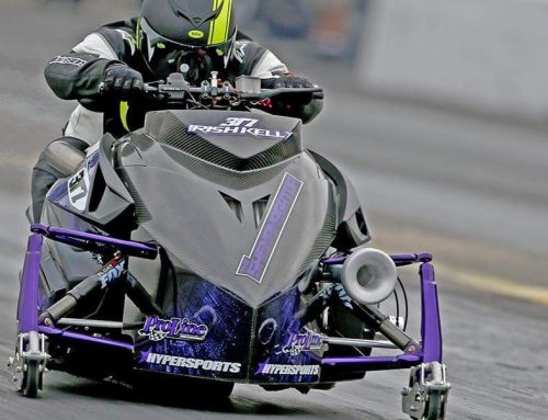 SNOWMOBILES AND CYCLES AT MICHIGAN'S FASTEST TRACK